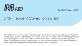 EPG Intelligent Correction System